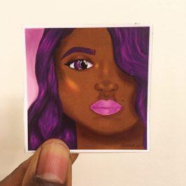 purple, drawing, sticker, art, black art
