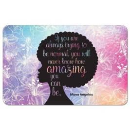 """Maya Angelou """"Amazing Afro"""" Inspirational Floor Mat"""