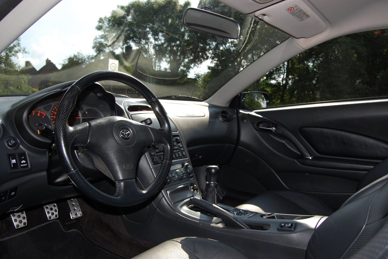 Black And Interior Upholstery Blue Car