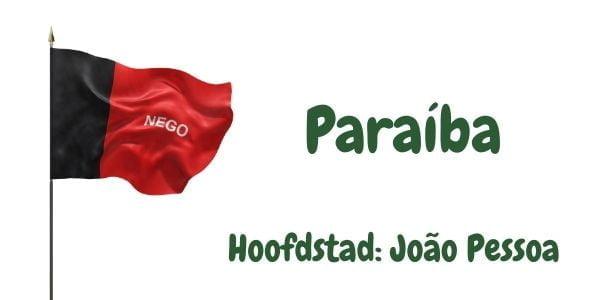 Vlag van de Braziliaanse deelstaat Paraíba met als hoofdstad João Pessoa