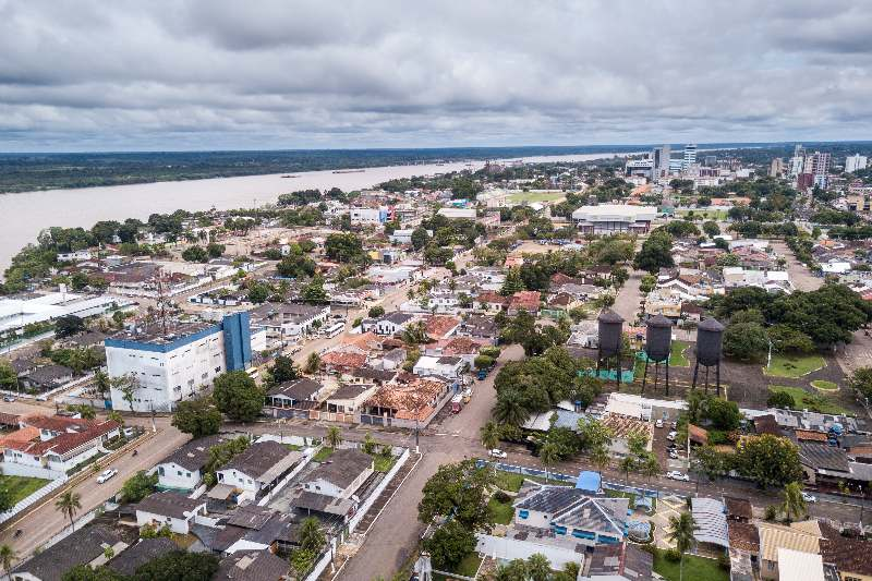 Rondônia-Porto Velho-Aerial drone view of Porto Velho