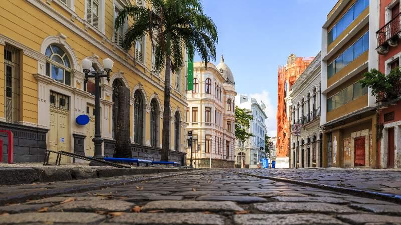Rua do Bom Jesus na cidade de Recife