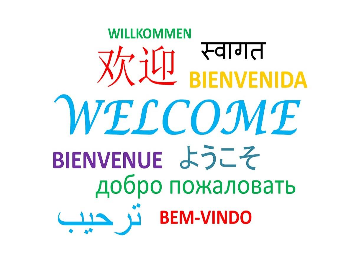 Welkom in verschillende talen geschreven