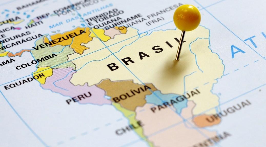 Mijnbrazilie-Brazilië-Brazilië grenst aan 10 van de 15 landen uit Zuid-Amerika-Landkaart van Zuid-Amerika