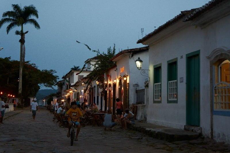Paraty-Rio de Janeiro-Straat in Paraty met winkeltjes