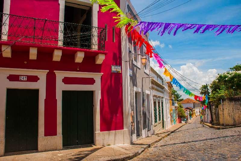 Historische straat in Olinda