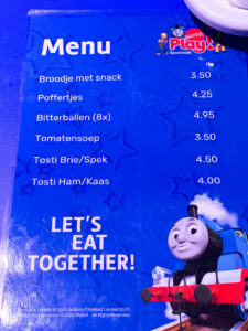 menu restaurant Mattel Play