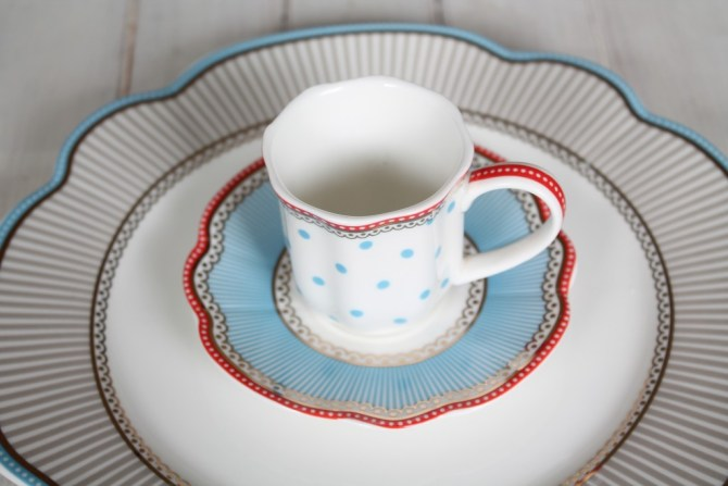 espressokopje polkadot blauw
