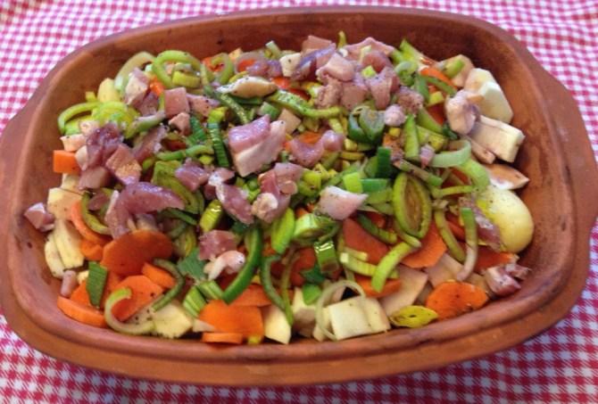 groenten in Romertopf