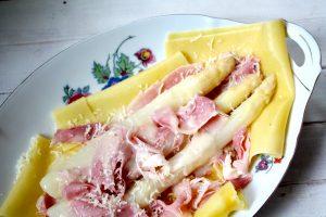 open lasagne met asperges