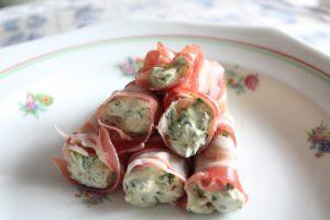 Ham-spinazie rolletjes
