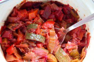 groenten in tomatensaus