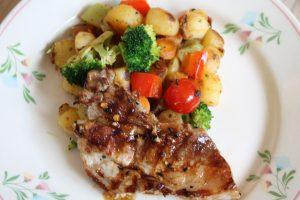 zomerse groenten met kip