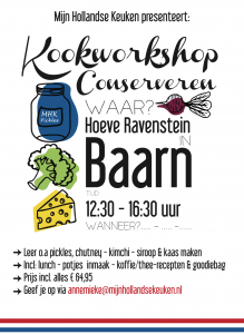 flyer workshop conserveren
