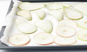 appels drogen op bakplaat