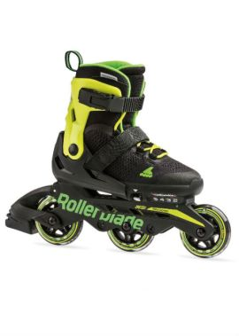 Rollerblade MICROBLADE 3WD - Inline Skate - zwart/lime