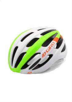 Giro Foray Helm - Mat Wit/Lime/Oranje