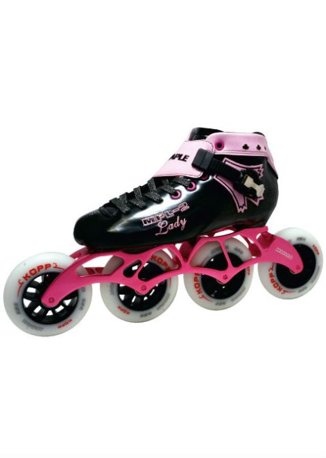 Maple MPL 2 Lady – Inline Skate - Zwart/Roze