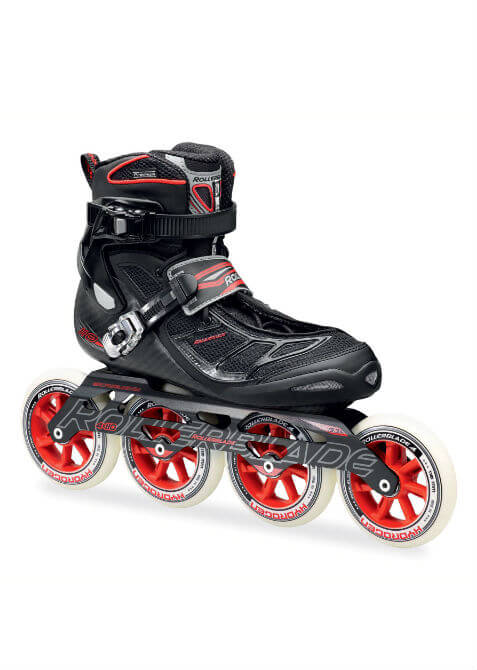 362495cd745 Rollerblade - Tempest 110 C – Inline Skate – Zwart/Rood - Mijnten.nl