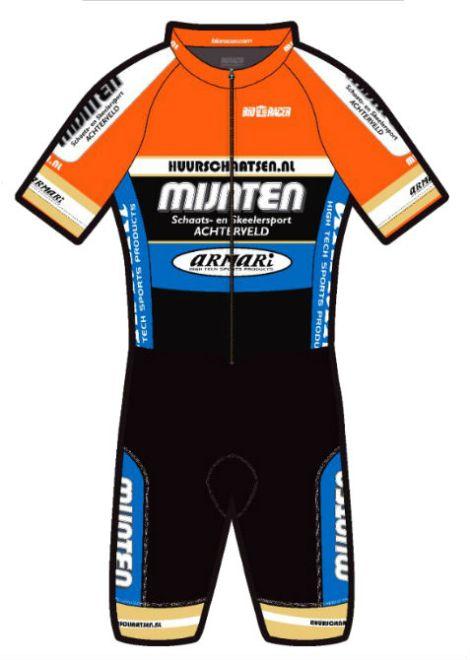 Team Mijnten fiets pak compleet