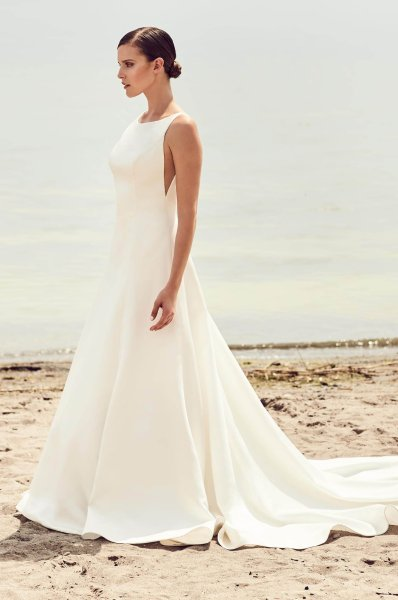 Sleek Modern Wedding Dress   Style  2115   Mikaella Bridal
