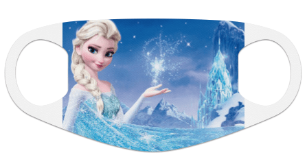 Ice Princess Face Mask For Kids