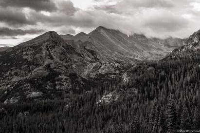 Cloudy skies over Long's Peak