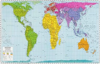 Mapa real del mundo