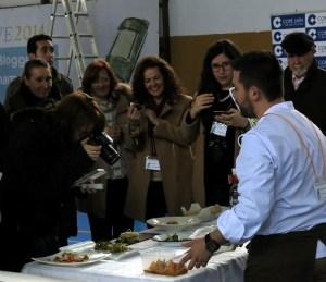 Blogueros gastronómicos en el show cooking de TweetsAOVE 2015