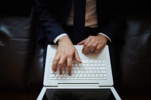 Man on laptop - Mike D. O'Brien - Digital Marketing Consultant