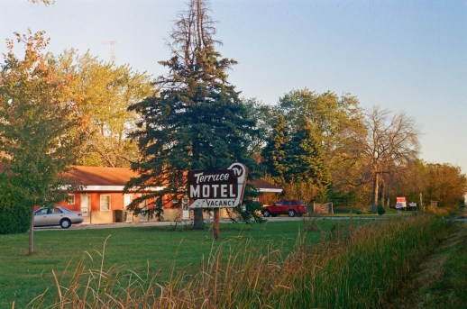 This is a scary looking motel near my work which has a very photogenic sign!