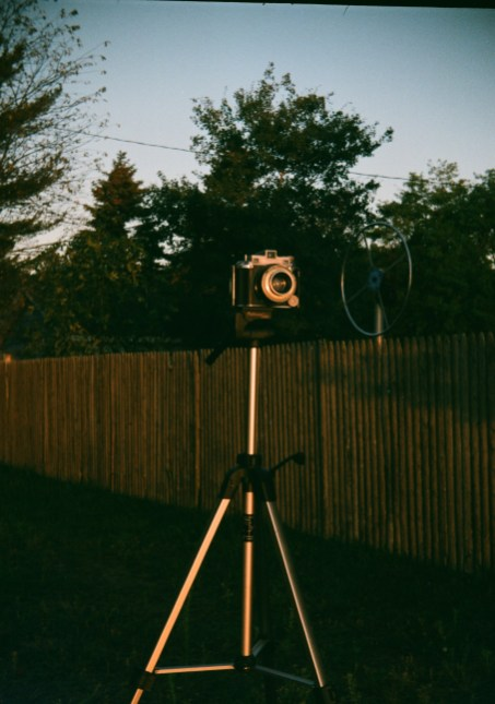 My Kodak Medalist waiting for sunrise.