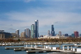 The Chicago skyline as seen from Northerly Island.