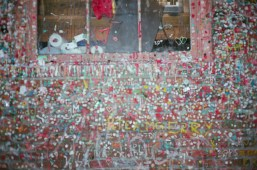 This shot of a flat wall loaded with gum is completely blurry. Why?