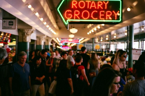 I was so disappointed with this image. Such a cool composition of the Seattle fish market was completely out of focus.