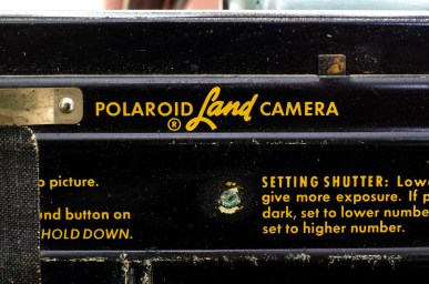 A close up of some of the instructions inside the camera.