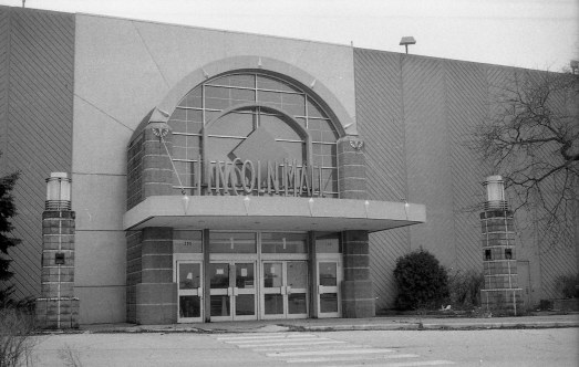 An entrance to the abandoned Lincoln Mall, in Matteson, IL.