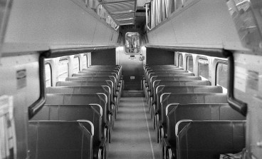 This shot of the interior of an empty Metra train is perfectly exposed, suggesting the meter on the Vitomatic is working great!