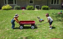 One of my favorite shots I have ever taken is of these two boys playing tug of war with a Radio Flyer!