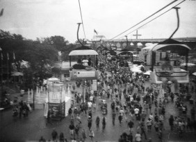 The blurriest shot from my first roll was taken on a moving ski lift above the crowd.