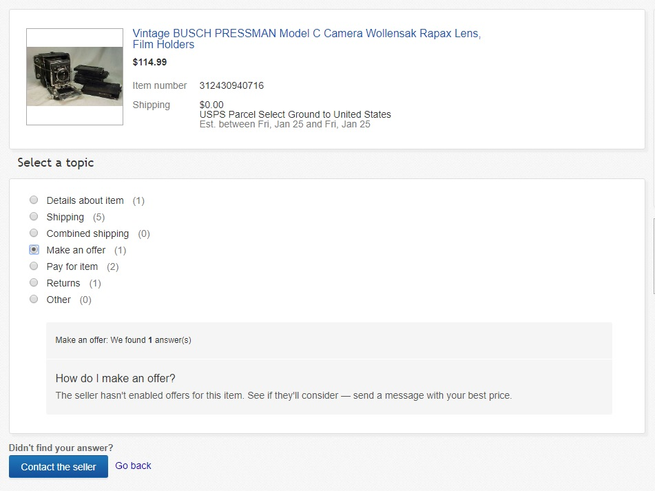 GAS Attack! Buying Cameras on eBay - mike eckman dot com