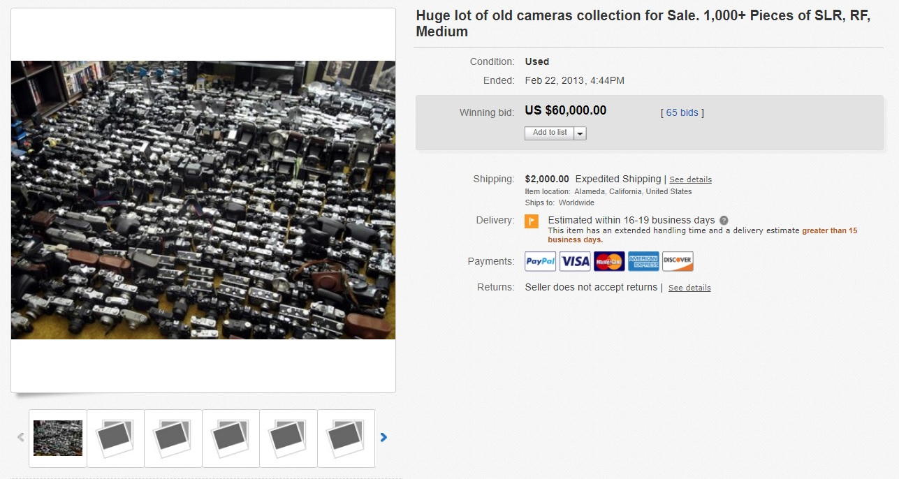 Gas Attack Buying Cameras On Ebay Mike Eckman Dot Com