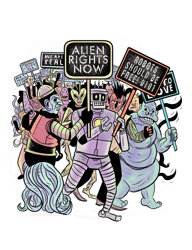 Alien Rights for Current Affairs