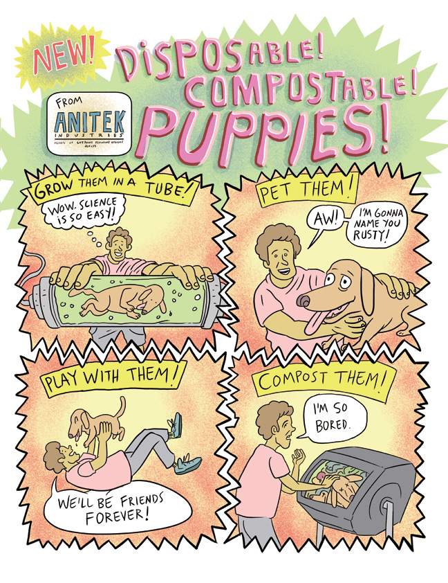 Compostable Puppies for Current Affairs