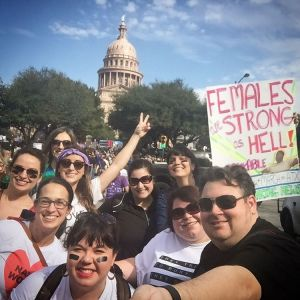 Marchers on Austin