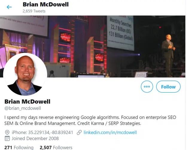 Brian McDowell Twitter