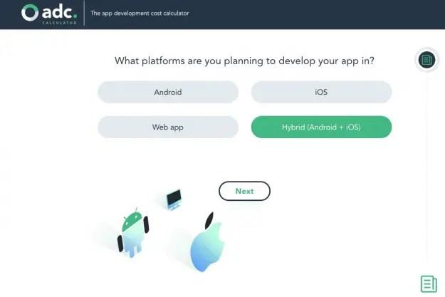 free app development cost calculator