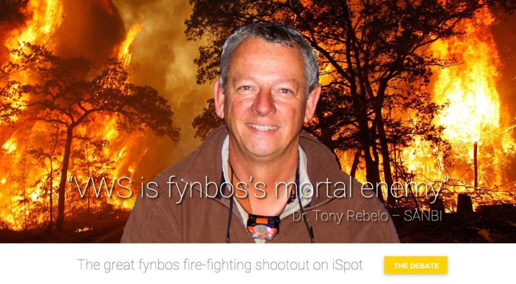 SANBI Restoration Ecologist Dr Tony Rebelo slams VWS blanket fire suppression policy