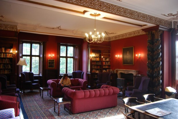 Harlaxton Manor:  present-day faculty common room