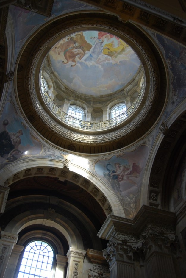 Great Hall with murals by Scott Medd (1962-3), Castle Howard, North Yorkshire
